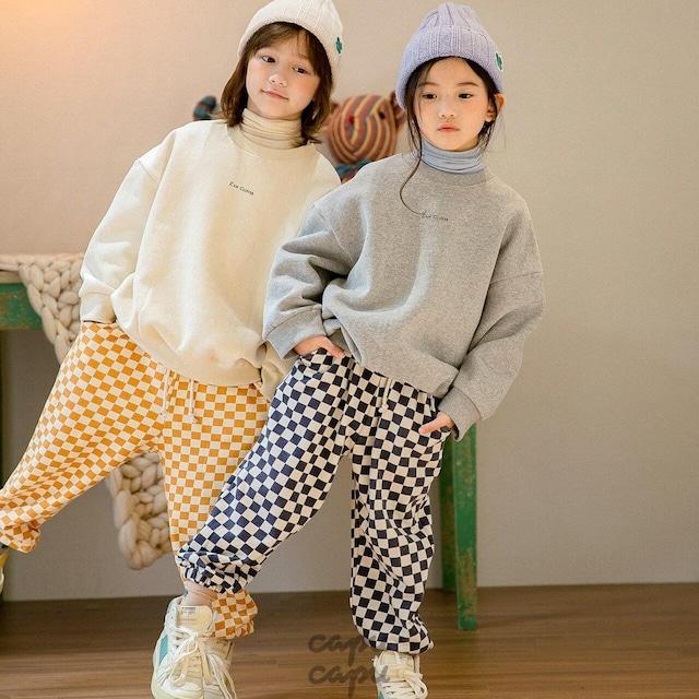 «ジュニア・ママサイズ»«先行予約割引»«Z'an Clover» Checker pattern pants チェッカーパンツ