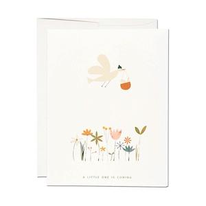 """グリーティグカード「バスケットの小鳥」 Greeting Card """"BIRDIE IN BASKET"""""""