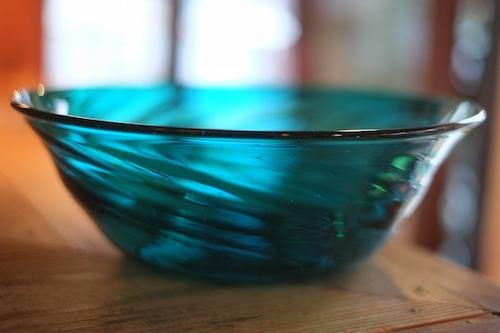 【倉敷ガラス・小谷栄次】◆◆◆大鉢◆◆◆小谷ブルー◆◆◆