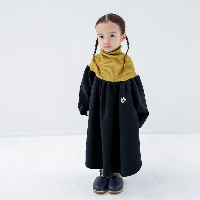 folk made clown dress Mサイズ (black print) F20AW-012