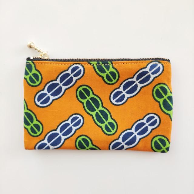 アフリカンファブリック ミニミニポーチ  Colorful Beans