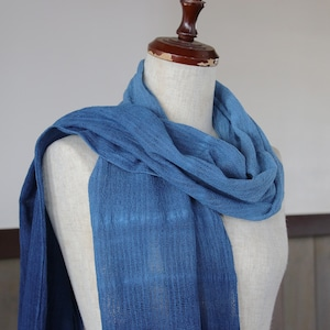 藍染コットンストール(cl154)