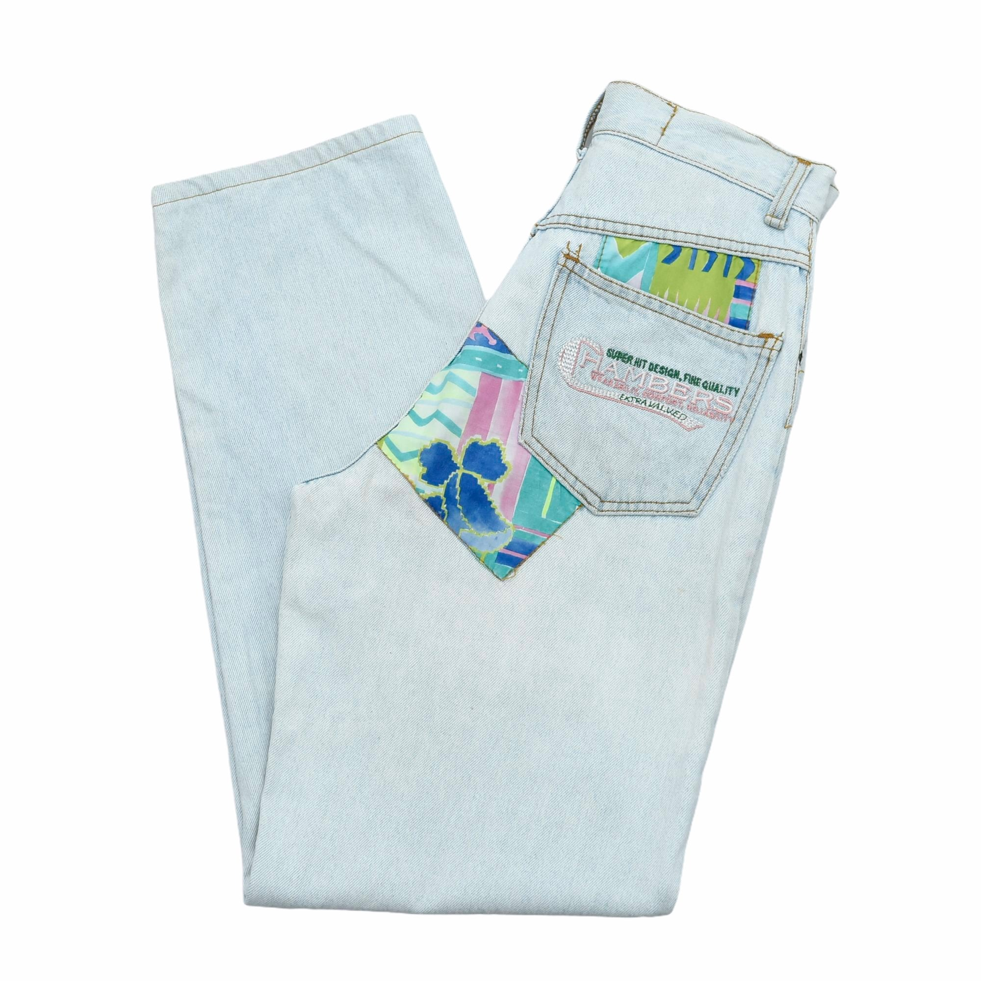 90s CHAMBERS patchwork design denim pants