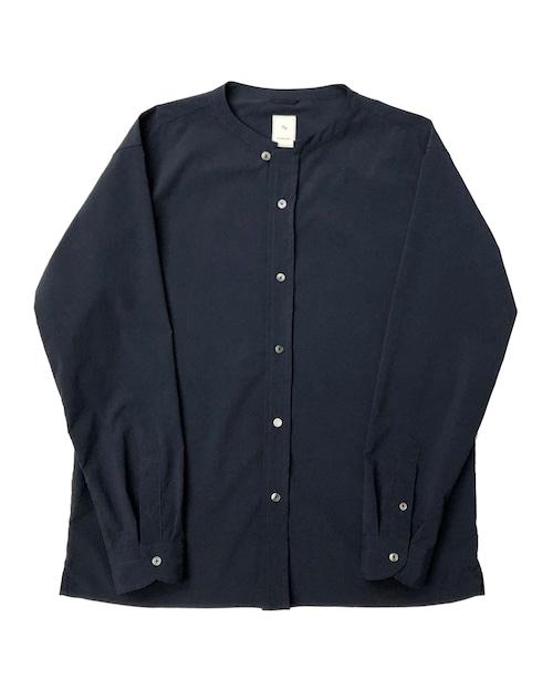 PE BAND COLLAR SHIRT / PEバンドカラーシャツ (NVY)