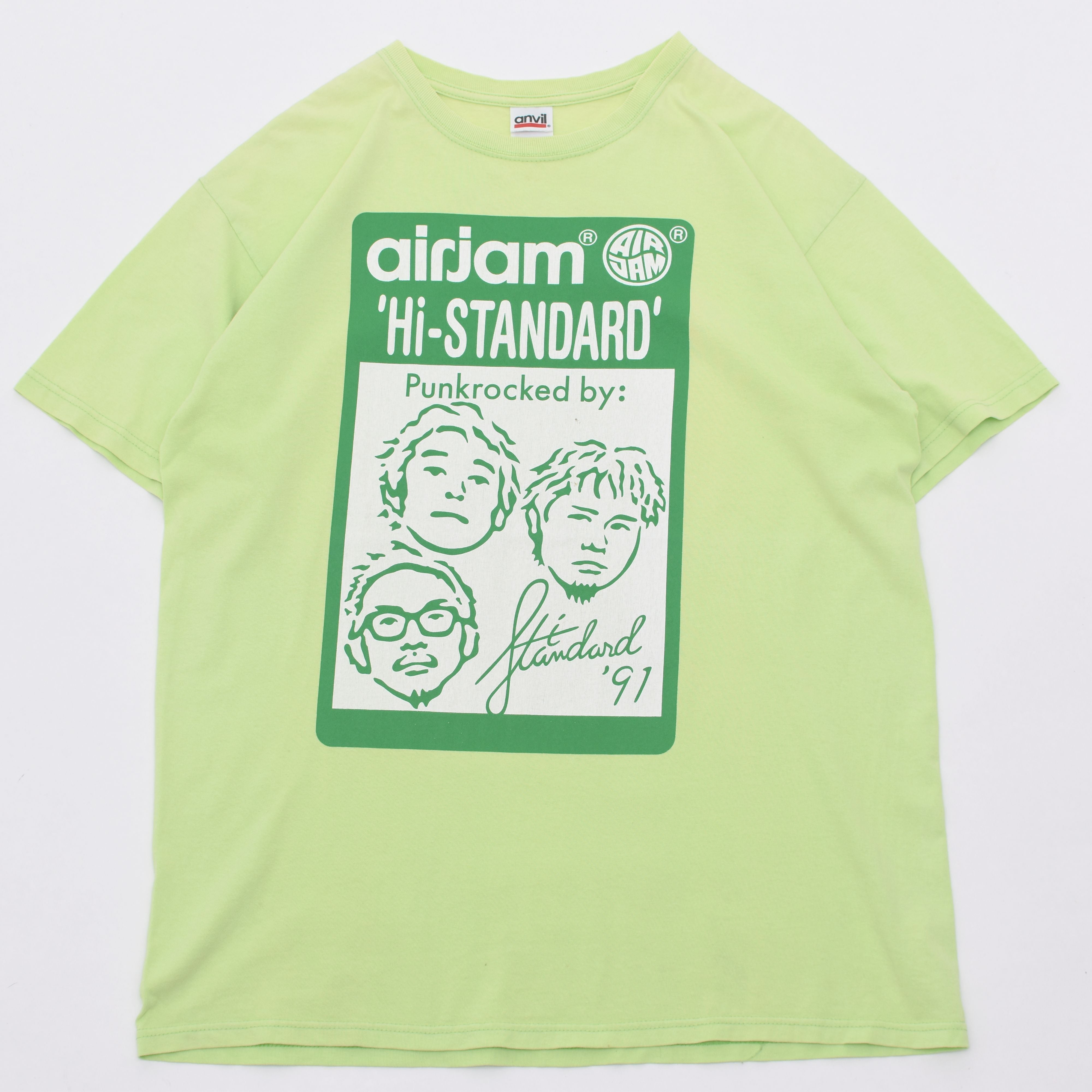 airjam Hi-STANDARD print T shirt バンドTシャツ