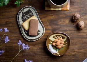 練り込み花紋小皿(小皿・小鉢・醤油皿)/鶴田季子
