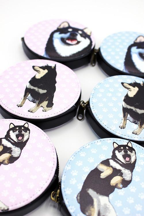 [受注品] リアルで可愛い柴犬柄コインケース・マルチケース
