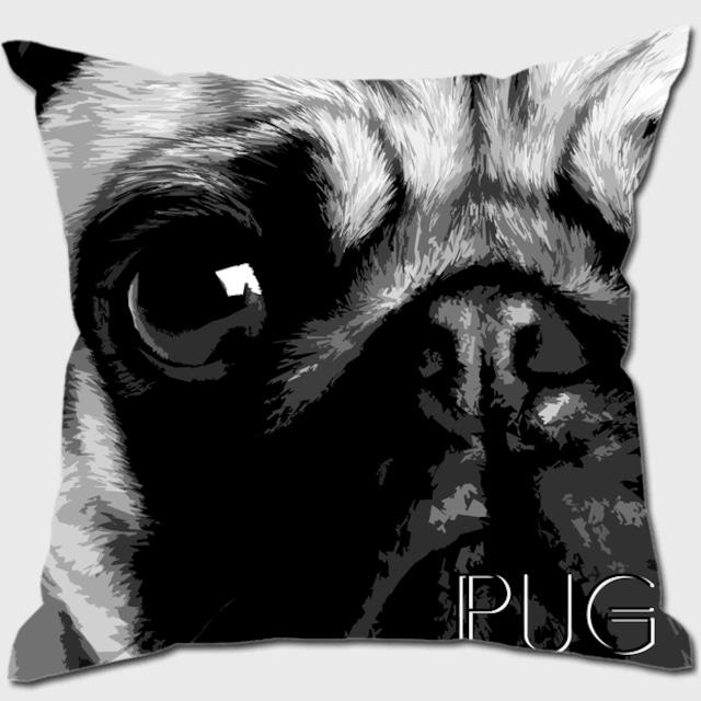 パグ 【IMPACT -shirokuro- 犬 クッション】