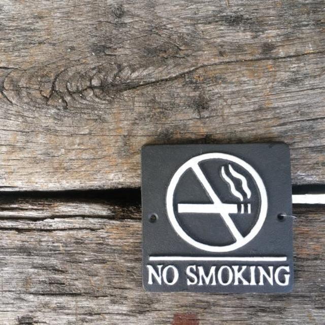 アイアン スクエアサイン NO SMOKING ブラック