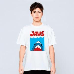 サメ ジョーズ Tシャツ メンズ レディース 半袖 かわいい イラスト 白 夏 大きいサイズ 綿100% 160 S M L XL