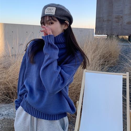 リブハイネックセーター #RD7390