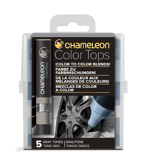 Chameleon Pen 5 Color Tops Gray Set (カメレオンペン 5本入りカラートップ グレーセット)