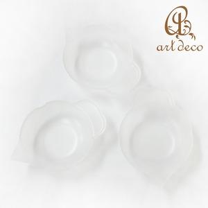 アクセサリー パーツ 調色パレット 3枚セット レジン 皿 パウダー 樹脂 ハンドメイド オリジナル 材料 金具 装飾 [pal-48062]
