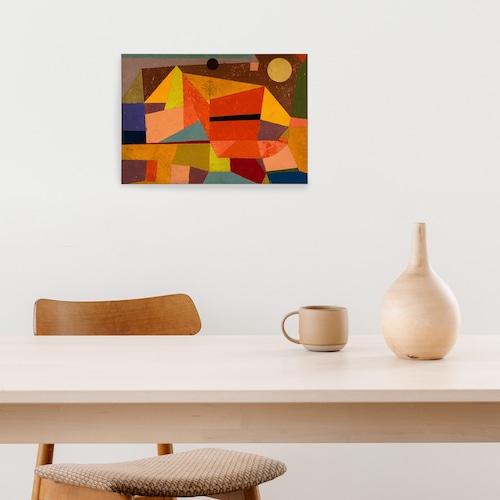 素敵なアートパネル A4サイズ 楽しい山の風景 パウル・クレー