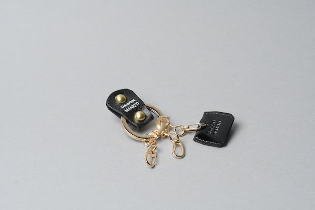 KEY RING・CAP ■ブラックG・エナメルB■_本革真鍮キーリング・キーキャップセット_ - メイン画像