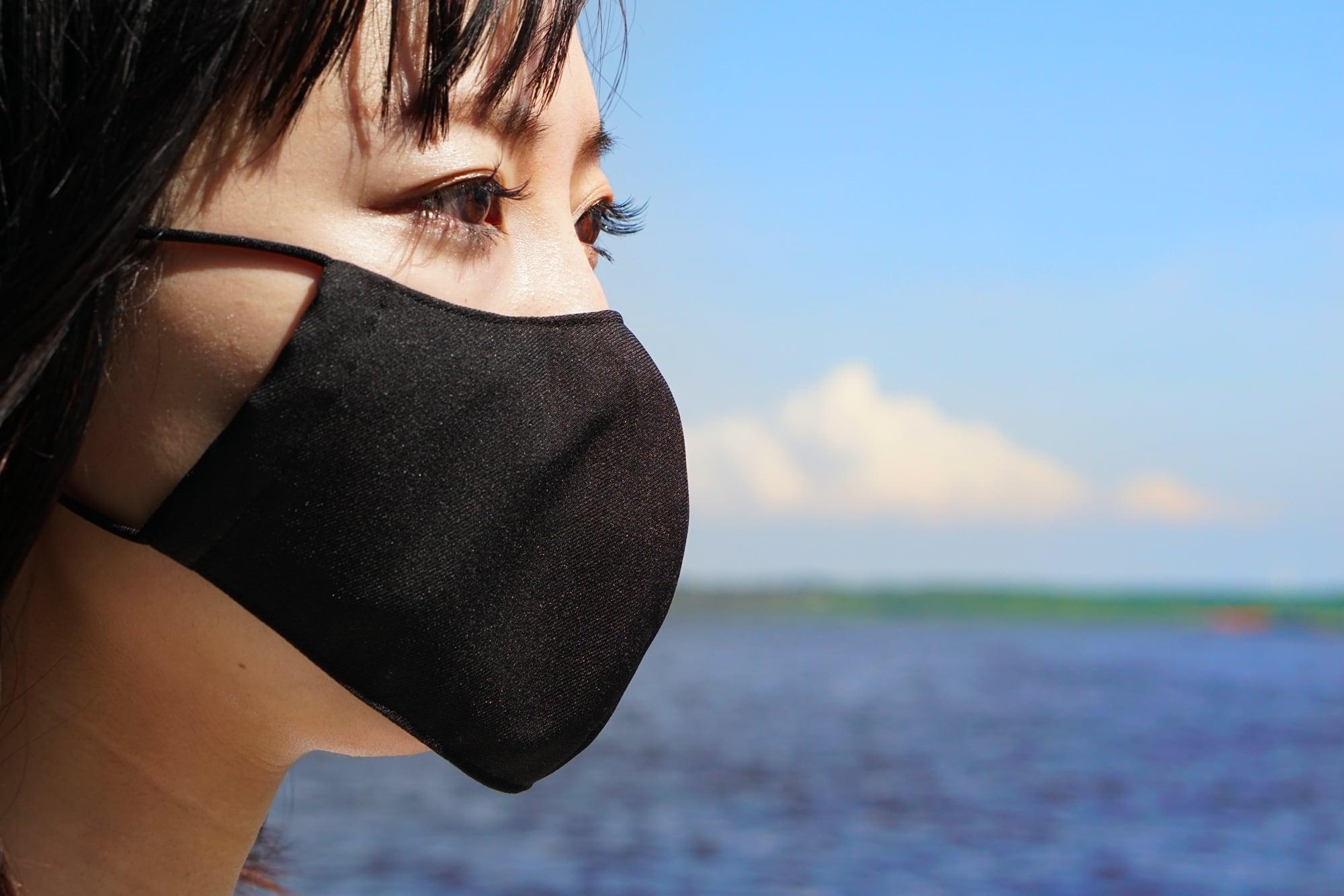 蒸れない「風洞マスク」/ブラック【男女兼用】