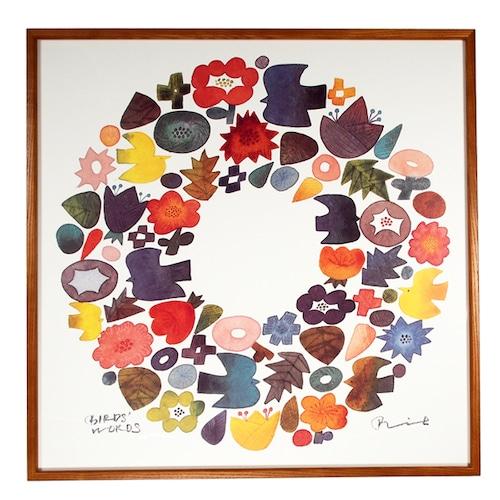 BIRDS' WORDS(バーズワーズ) Poster 60 Wreath 額装タイプ