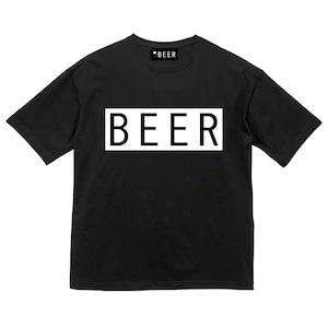 BEER ボックスロゴT ブラック/ホワイト