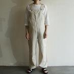 UNION LAUNCH【 womens 】stripe linen cotton overalls pants