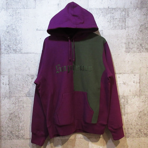 SUPREME 17AW Split Old English Hooded Sweatshirt