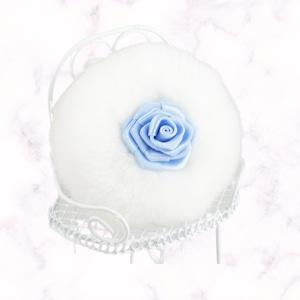 【MarryMemory】エレガントローズパフ(サムシングブルー)