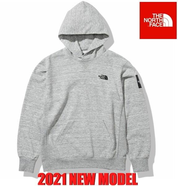 ノースフェイス パーカー フーディー スウェット プルオーバー パーカー スクエアロゴフーディー The North Face Square Logo Hoodie NT12141 ミックスグレー 2021年モデル