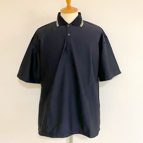 Over Size Polo Shirts Black