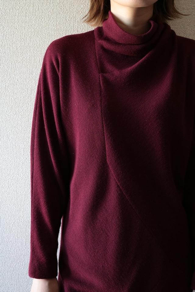 Vintage wool knit design dress