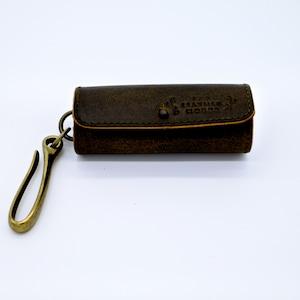 Yezo deer round key case 墨染 series camel