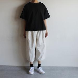 布帛のTシャツ/黒