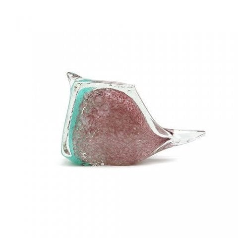 BIRD PAPER WEIGHT (小鳥のガラス製ペーパーウェイト) Lサイズ 【ピンク(L-P)】