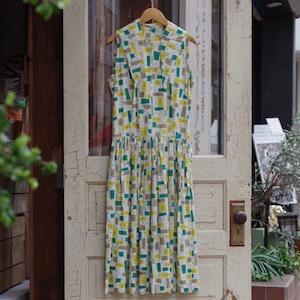 50's Vintage Cotton Dress / 50年代 ヴィンテージ コットン ドレス
