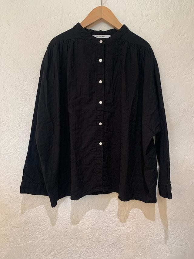 CUORE STORE MARKET/2重織ワイドUヨークシャツ ブラック