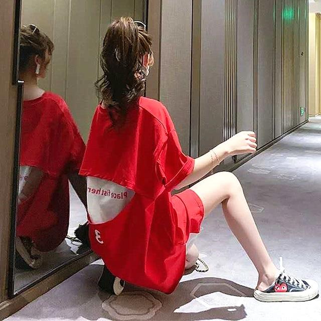 【トップス】カジュアルキュート系透かし彫りファッションTシャツ27000246