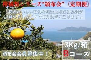 こだわり和歌山県産柑橘類 頒布会(定期便)Bコース【ご家庭用】【3kg /箱×6回コース】送料無料