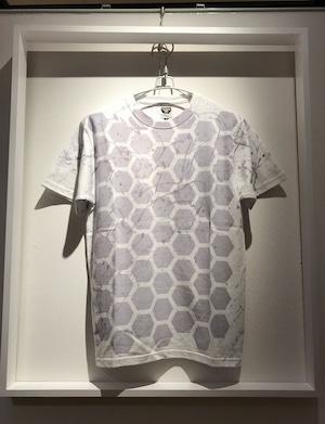グレーヘキサゴンシブキTシャツ