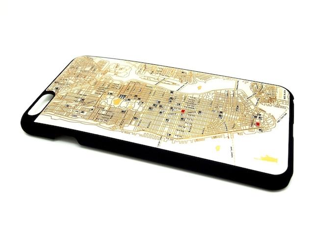 NY回路地図 iPhone6Plusケース 白【LEDは光りません】【東京回路線図A5クリアファイルをプレゼント】
