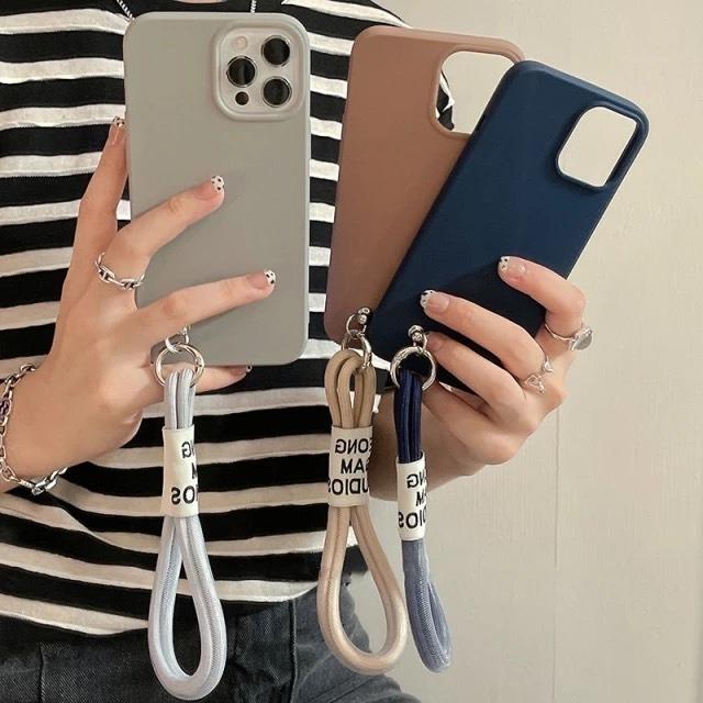 ストラップ付き♪ Simple color iphone case