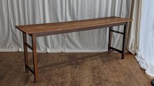 ナラ無垢材 長机 ロングテーブル 作業台