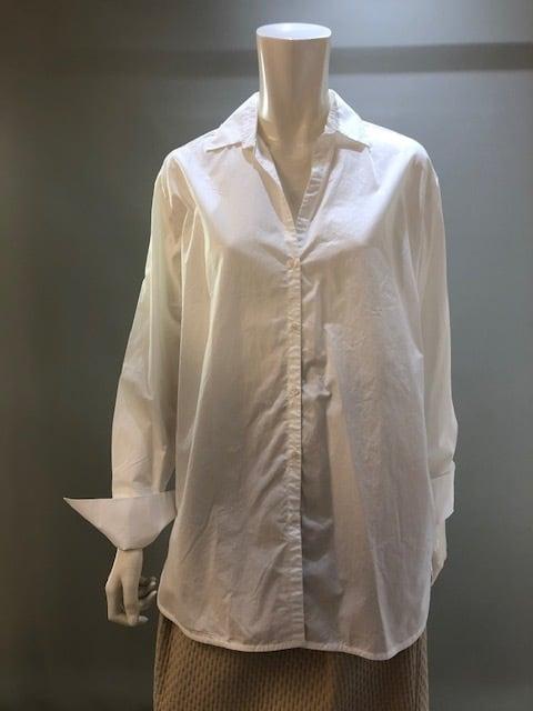0039 ITALY  39-AS1802 Col.0003(White) サイドにストライプ白ブラウス ポルトガル製