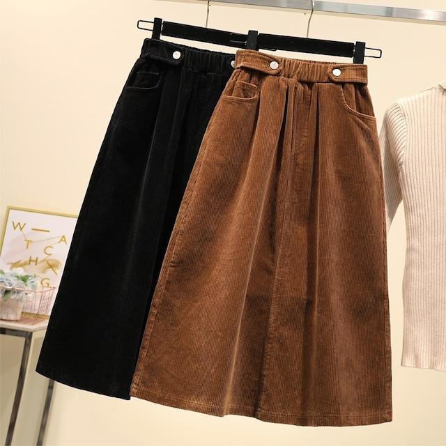 コーデュロイAラインスカート 2色 【201039】