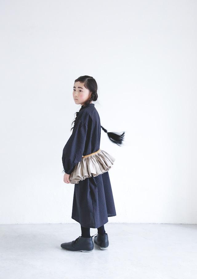 【21AW】ミチリコ(michirico) linen vest 生成り【kids free】ベスト