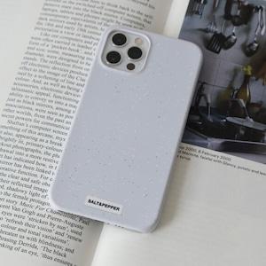 【t.e.a】SALT & PEPPER (COOL GRAY) / iphone スマホ ケース カバー 韓国雑貨