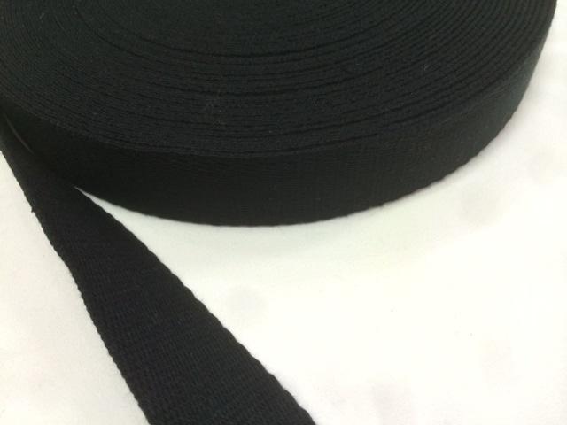 アクリル 三つ綾織  しっかり厚め 黒/カラー 25mm幅 1m