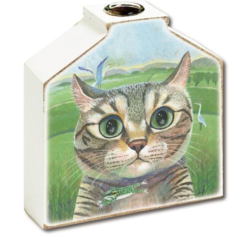 猫花瓶(糸井忠晴フラワーベース)ネコとカエル
