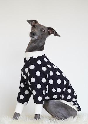 dot pattern pullover