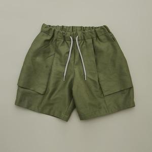 MOUN TEN. C/L moleskin fatigue shorts (khaki) 0サイズ [21S-MP51-0921b] MOUNTEN.※1点までメール便OK