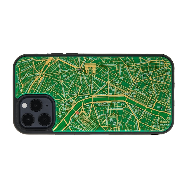 FLASH Paris回路地図 iPhone 12 / 12 Pro ケース  緑【東京回路線図A5クリアファイルをプレゼント】