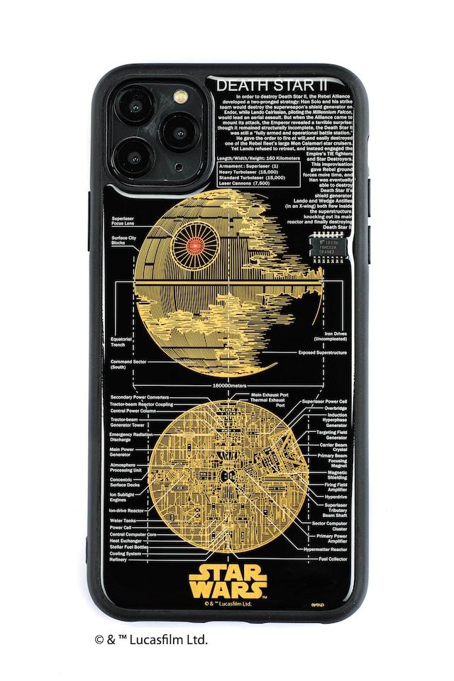 FLASH DEATH STAR 基板アート iPhone 11 Pro Max ケース  黒【東京回路線図A5クリアファイルをプレゼント】