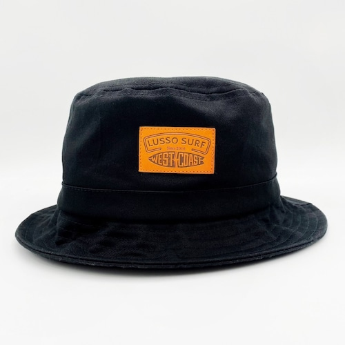 Leather Patch Bucket Hat